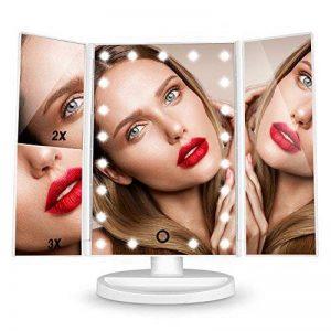 Miroir Maquillage LED Lumineux Grossissant 3X 2X 1X Pliable Rotation 180 Degrés pour Femme/Maquilleur de la marque HAMSWAN image 0 produit