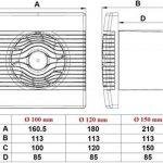 MKK Ventilateur encastrable de bain/de plafond avec minuteur 100mm de diamètre à l'avant de la marque MKK image 4 produit