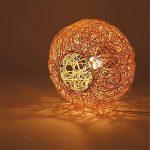 MMYNL Suspension lustre La personnalité créative boule rotin pastorale moderne Lampe Art minimaliste Restaurant Chambres Balcon Horse Ball suspendus, 30CM de la marque MMYNL image 3 produit
