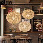 MMYNL Suspension lustre La personnalité créative boule rotin pastorale moderne Lampe Art minimaliste Restaurant Chambres Balcon Horse Ball suspendus, 30CM de la marque MMYNL image 1 produit