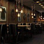 Modeen AC 240V E27 Vintage Style Rustique Luminaire Tuyau de fer Lustres de plomberie Chanvre Rétro Lampe Suspension en Corde pour Restaurant Bar Cafe Lighting Utilisation de la marque Modeen image 3 produit