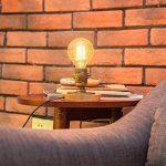 Modeen Lampe de table industrielle vintage Lampe de table Steampunk Style d'arrosage rustique Lampe de table de chevet pour maison Salle d'étude Chambre Bibliothèque Hôtel Barn Warehouse Lampes de bureau de la marque Modeen image 3 produit