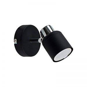 Moderne Applique Murale ou plafonnier. 1 spot réglable en noir et chrome polis de la marque MiniSun image 0 produit