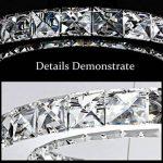 Moderne Conception 23W Forme S LED Cristal Lustre Blanc Froid 6000-6500K Éclairage Luminaire de Plafond AC 100-240V Lampe(60 x 30 cm) pour Salon, Salle à Manger, Chambre à Coucher de la marque ELINKUME image 1 produit