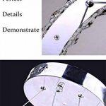 Moderne Conception 23W Forme S LED Cristal Lustre Blanc Froid 6000-6500K Éclairage Luminaire de Plafond AC 100-240V Lampe(60 x 30 cm) pour Salon, Salle à Manger, Chambre à Coucher de la marque ELINKUME image 2 produit