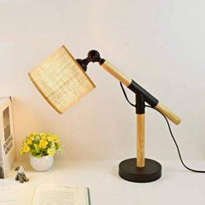Moderne En Bois Réglable LED Oeil Lampe De Table Chambre à Coucher Lampe De Chevet étude Livre Tissu éclairage de la marque ZHITENG image 0 produit