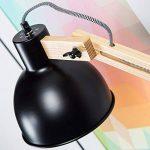 Moderne Lampadaire au look Nordic avec câble et armature en bois, 1x E27max. 40W/Textile bois, métal/bois, en bois clair/noir de la marque Lightbox image 1 produit