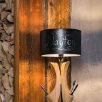 Moderne Lampe de table de style Art Déco, pied en bois, abat-jour en tissu noir, design exclusif, excl. E141x 40W 220V de la marque MAYTONI DECORATIVE LIGHTING image 4 produit
