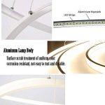 Moderne LED 3 anneau pendentif éclairage, acrylique et métal lustre de bureau plafonnier luminaire pour la maison et le studio, gradation stepless 3000 K-6500K Hauteur réglable (60 * 40 * 20) de la marque LED Pendant Light image 3 produit