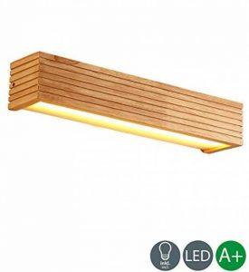 Moderne LED éclairage mural rectangulaire bois corps Applique murale design simple lampe murale créatif Éclairage intérieur Décoration Éclairage Salon Lampe Chambre lampe 8W blanc chaud, 55*9CM de la marque L.Y.leuchtung image 0 produit