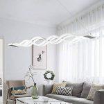 Moderne LED Suspension Luminaire Design Plafond Suspension Lampe Lampe suspendu d'éclairage intérieur Salon Chambre Salle à manger Pendentif Luminaires Lumière chaude 105cm*11cm (Lumière blanche) de la marque Glamour-Eclairage image 2 produit