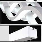 Moderne LED Suspension Luminaire Design Plafond Suspension Lampe Lampe suspendu d'éclairage intérieur Salon Chambre Salle à manger Pendentif Luminaires Lumière chaude 105cm*11cm (Lumière blanche) de la marque Glamour-Eclairage image 4 produit