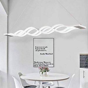 Moderne LED Suspension Luminaire Design Plafond Suspension Lampe Lampe suspendu d'éclairage intérieur Salon Chambre Salle à manger Pendentif Luminaires Lumière chaude 105cm*11cm (Lumière blanche) de la marque Glamour-Eclairage image 0 produit