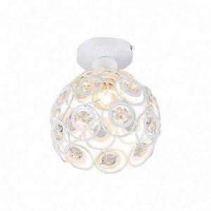Moderne Plafonnier Industrielle Cristal en Métal, Luminaire l'éclairage Intérieur Exterieur de Plafond Abat-Jour Blanc de la marque PETITES ECREVISSES image 0 produit