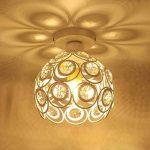 Moderne Plafonnier Industrielle Cristal en Métal, Luminaire l'éclairage Intérieur Exterieur de Plafond Abat-Jour Blanc de la marque PETITES ECREVISSES image 2 produit