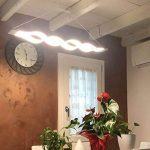 Moderne Suspension LED,Lustre led, LED Eclairage de plafond,LIUSUN LIULU® Lustre Salon Moderne pour Cuisine, Salle À Manger, Salon,Restaurant,3000k,60W de la marque LIUSUN LIULU image 1 produit
