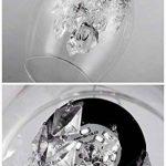 Moderne Verre à vin rouge Cristal design minimaliste salon chambre mode personnalité créative Lampe suspension Lustre, intensité variable Lumière chaude + lumière froide LED inclure Ampoules de la marque Homelike Light image 1 produit