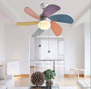 MoMo Lustre Créatif Ventilateur de Plafond pour Enfants, Ventilateur, Lustre de Chambre à Coucher, Éclairage de Salon de Restaurant, Lumière de Ventilateur de Plafond de la marque MoMo image 0 produit