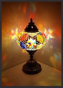 Mosaïque lampe de table lampe de chevet en laiton oriental lampes de mosaïque Mosaik türkish lamp 100 % laiton Samarkand-Lights de la marque Samarkand - Lights image 0 produit
