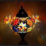 Mosaïque lampe de table lampe de chevet en laiton oriental lampes de mosaïque Mosaik türkish lamp 100 % laiton Samarkand-Lights de la marque Samarkand - Lights image 1 produit