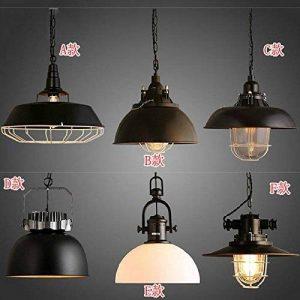 MSAJ-American vintage iron lustre style industriel fer m¨¦tal lustre lampe ombre bar pot t¨ºte unique lustre , b models de la marque image 0 produit