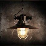 MSAJ-American vintage iron lustre style industriel fer m¨¦tal lustre lampe ombre bar pot t¨ºte unique lustre , c models de la marque image 1 produit
