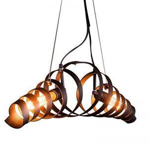 Métal rétro Lampe Vintage suspension Lustre plafond Lampe industrielle Lampe Bar lampe de Plafonniers lustre Luminaire KJLARS de la marque KJLARS image 0 produit