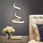 MTMLIGHT LED Spirale Mur Lumière Simple Créativité Moderne Chambre Allée Lampe de Chevet Mur Applique Salon En Aluminium En Métal Lampe de Mur de la marque MTMLIGHT image 1 produit
