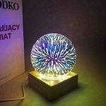 MUCHER Lampes table et chevet Lampe de bureau 3D Lampe d'ambiance décorative avec dôme en verre et base en bois Veilleuse LED pour la décoration Anywhere. de la marque MUCHER image 4 produit