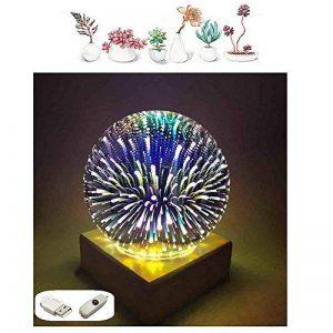 MUCHER Lampes table et chevet Lampe de bureau 3D Lampe d'ambiance décorative avec dôme en verre et base en bois Veilleuse LED pour la décoration Anywhere. de la marque MUCHER image 0 produit