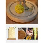 Mucher Verre Dôme lampe de Bell Jar Dôme Bamboo base Affichage chaîne USB LED chaud Table de chevet lumière blanche Lampe idéal chaud fées étoilées de lumières LED pour la décoration Anywhere. (Blanc chaud) de la marque MUCHER image 2 produit