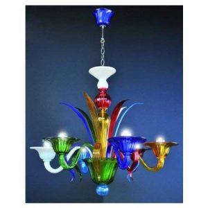 Multicolore lustre 6 lumières de la marque Cristalleria Murano image 0 produit