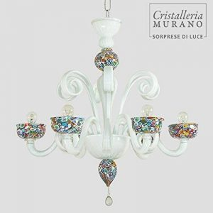 Murrine lustre à 6 lumières de Murano de la marque Cristalleria Murano image 0 produit