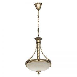 MW-Light Aphrodite lustre suspension en métal style classique couleur bronze antique abat-jour en verre pour chambre ou salon ampoules E14 3x60W 230V non incluses de la marque MW-Light image 0 produit