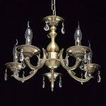 MW-Light Lustre Chandelier de Design Classique à 5 Lampes Bougies en Métal couleur Bronze Antique décoré de Cristaux pour Salon ou Salle à Manger 5x60W E14 de la marque MW-Light image 1 produit
