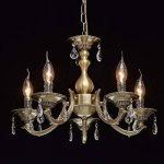 MW-Light Lustre Chandelier de Design Classique à 5 Lampes Bougies en Métal couleur Bronze Antique décoré de Cristaux pour Salon ou Salle à Manger 5x60W E14 de la marque MW-Light image 2 produit