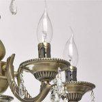MW-Light Lustre Chandelier de Design Classique à 5 Lampes Bougies en Métal couleur Bronze Antique décoré de Cristaux pour Salon ou Salle à Manger 5x60W E14 de la marque MW-Light image 3 produit