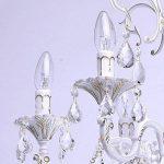 MW-Light Lustre Suspension Classique à 6 Bras en Métal couleur Blanc Doré avec Lampes Bougies décoré de Pampilles en Cristal pour Salon ou Chambre 6x60W E14 de la marque MW-Light image 4 produit