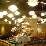 Myfei DIY Lotus Abat-jour suspendu - Décoration de salle de bain en polypropylène - Lampe moderne suspendue LED - Abat-jour pour décoration d'intérieur. de la marque Myfei image 4 produit