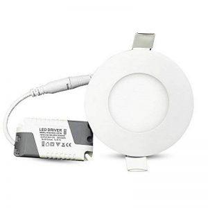 MYHOO [10 packs] Spots Encastrables LED 3W Projecteur Encastré Lampe Plafonnier Orientable Blanc Chaud (3000K-3500K) Plafond Rond [Classe énergétique A++] de la marque MYHOO image 0 produit