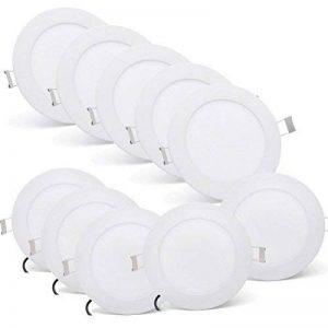MYHOO 10X6W Ultra mince LED Spot Encastrable Plafonnier Lampe Spot Spot Set Projecteurs encastrés Plafond Blanc Froid (6000-6500K)[Classe énergétique A++] de la marque image 0 produit