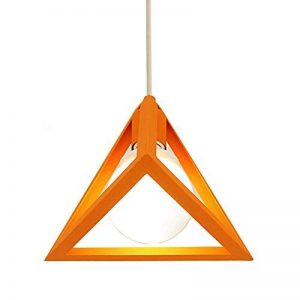 MZStech Lustre à 1 Lumière, Triangle simple, Lustre en fer, Lampe suspension suspendue en fer Orange de la marque MZStech image 0 produit