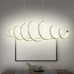 N3Lighting Lustre Design Suspension LED Salle à manger lampe suspension, moderne, esstischleuchte, DIMM, hauteur réglable, bar métal blanc chaud, 56W, 88x 22,3x 140cm de la marque N3 Lighting image 0 produit