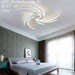 Neuf 2042WJ de 3lumière plafonnier LED avec télécommande avec écran couleur/luminosité variable acrylique cadre en métal laqué blanc design moderne Classe d'efficacité énergétique: A + moderne de la marque Eurotondisplay image 1 produit