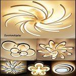 Neuf 2042WJ de 3lumière plafonnier LED avec télécommande avec écran couleur/luminosité variable acrylique cadre en métal laqué blanc design moderne Classe d'efficacité énergétique: A + moderne de la marque Eurotondisplay image 3 produit