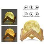 NEWBEN Lampe de Lecture en Lune 3D Rechargeable Touch Control Dimmable Luna Night Light avec Support en Bois Parfait pour Cadeau Décoration de la Maison (7.8cm) de la marque NEWBEN image 1 produit