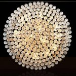 Nianle Plafonnier Rond Moderne K9 Cristal gouttelettes d'eau en Cristal décoratif lustres d'éclairage, Lustre en Cristal de Salon Salon Chambre (Taille : 3 Head-40cm) de la marque Nianle image 1 produit