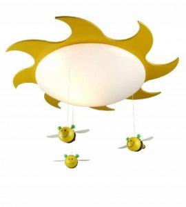 Niermann Standby 631 Plafonnier Soleil et Abeille Lampe Économique pour Enfants Plastique/Bois 15 Watts de la marque Niermann Standby image 0 produit