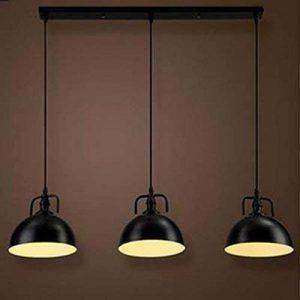 NIUYAO Lampe Suspension Abat-jour en Métal Plafonnier Demi-cercle Lustre 3 Lumières Industrielle Pendant Lights Lumières Décoratives-Noir de la marque NIUYAO image 0 produit