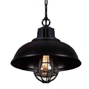 NIUYAO Lampe Suspension Lustre Abat-jour en Métal avec Grills Loft Style Chandelier Industriel Vintage Pendentif Lumière-Noir de la marque NIUYAO image 0 produit